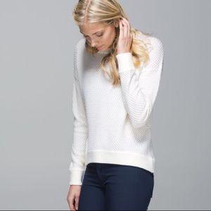 Lululemon Yogi Crew Sweater White • Sz 6
